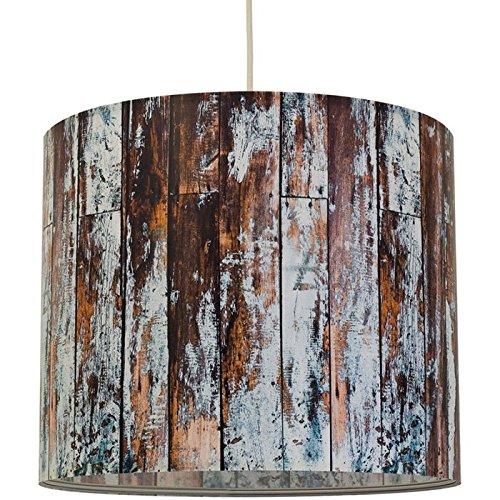 """anna wand® - Lampenschirme für modernes Wohnen. Design """"Wood"""" Blaugrau, ø 40 cm"""