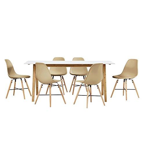 encasa-Esstisch-Bambus-wei-mit-6-Sthlen-beige-180x80cm-Esszimmer-Essgruppe-Kche-0