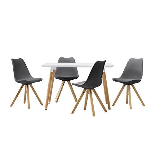 encasa-Esstisch-mit-4-Sthlen-grau-gepolstert-120x80cm-Kunstleder-Esszimmer-Essgruppe-Kche-0