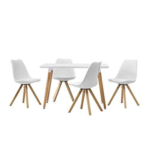 encasa-Esstisch-mit-4-Sthlen-wei-gepolstert-120x80cm-Kunstleder-Esszimmer-Essgruppe-Kche-0