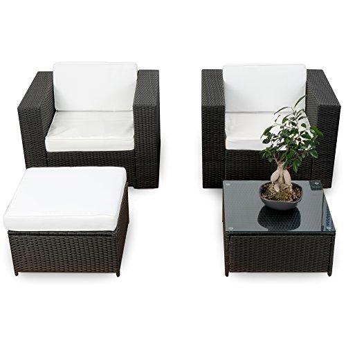 erweiterbares-10tlg-Balkon-Garten-Lounge-Set-Polyrattan-schwarz-Sitzgruppe-Garnitur-Gartenmbel-Lounge-Mbel-Set-inkl-Lounge-Sessel-Hocker-Tisch-Kissen-0