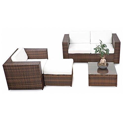 erweiterbares-12tlg-Rattan-Lounge-Mbel-Balkon-Sitzgruppe-braun-mix-Garnitur-Gartenmbel-Lounge-Mbel-Set-Balkon-inkl-Lounge-Sofa-Sessel-Hocker-Tisch-Kissen-0