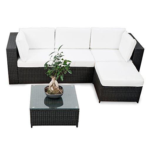 erweiterbares-15tlg-Balkon-Polyrattan-Lounge-Ecke-schwarz-Sitzgruppe-Garnitur-Gartenmbel-Lounge-Mbel-Set-aus-Polyrattan-inkl-Lounge-Sessel-Ecke-Hocker-Tisch-Kissen-0