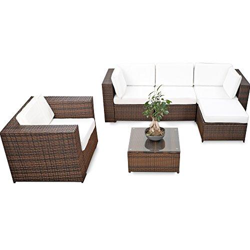 erweiterbares-18tlg-Eck-Lounge-Set-Polyrattan-braun-mix-Garnitur-Gartenmbel-Sitzgruppe-XXXL-Lounge-Gruppe-inkl-Lounge-Sessel-Ecke-Hocker-Tisch-kissen-0
