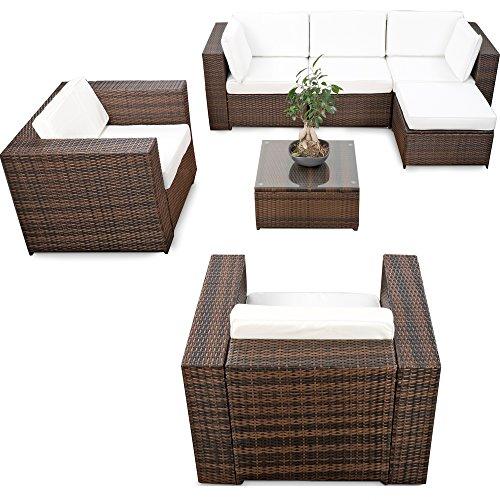 erweiterbares-21tlg-Lounge-Mbel-Polyrattan-Set-XXL-braun-mix-Sitzgruppe-Garnitur-Gartenmbel-Lounge-Eck-Set-inkl-Lounge-Sessel-Ecke-Hocker-Tisch-Kissen-0