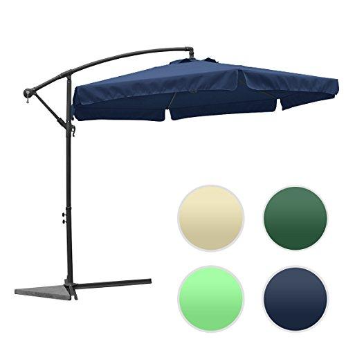 groß metall Sonnenschirm mit Kurbel ca. Ø 3m (300cm) - XXL! UV SCHUTZ! FARBE WÄHLBAR / rund Ampelschrim, Sonnenschutz und Wasserdicht Gartenschirm Kurbelschirm für Balkon, Camping, Tarasse