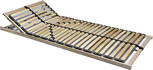 i-flair-7-Zonen-Lattenrost-90x200-cm-28-Leisten-Hrte-und-Kopfteil-verstellbar-mit-Mittelgurt-180-kg-EINFHRUNGSPREIS-90x200-cm-0