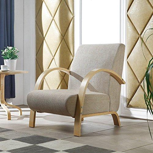 i-flair-Polstersessel-Lounge-Sessel-mit-hochwertigem-gepolsterten-Stoffbezug-Hellgrau-Natur-0