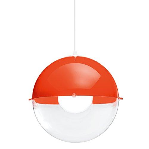 koziol-1911218-Pendelleuchte-Orion-E27-orangerot-mit-transparent-klar-315-x-315-x-305-cm-0