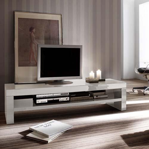 lounge-zone Lowboard TV Board TV Schrank Fernsehtisch TV Möbel TV-Tisch BROADCAST weiß hochglanz 160x40x45cm 9165