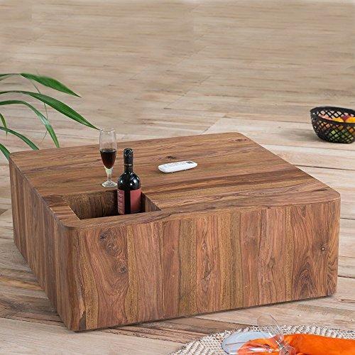 Lounge zone stylischer couchtisch wohnzimmertisch for Holz beistelltisch massiv
