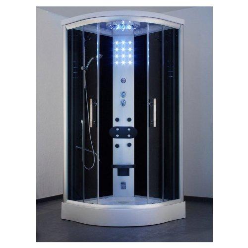 ... Badewanne Komplettdusche Duschkabine Dusche 150x150 schwarz - Möbel24