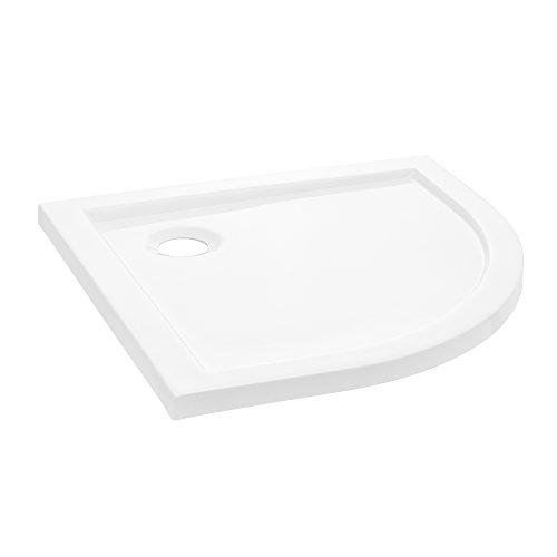[neu.haus] Duschwanne 90x90cm reinweiß Duschtasse Viertelkreis extra flach Bad