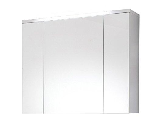 trendteam ADO50501 Bad Spiegelschrank XXL Weiß, BxHxT 100x72x21,5 cm