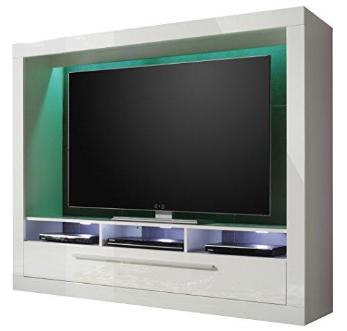 trendteam mx89501 wohnwand tv m bel weiss hochglanz bxhxt 165x135x40 cm m bel24. Black Bedroom Furniture Sets. Home Design Ideas