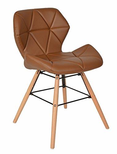 ts-ideen-1x-Design-Bro-Stuhl-Esszimmer-Bro-Sitz-Polster-Kunstleder-Braun-Holz-71-x-49-cm-0