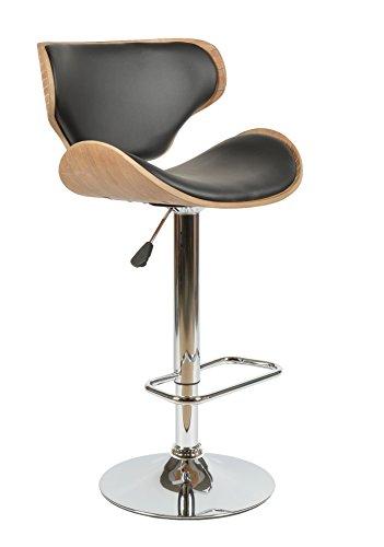 ts-ideen 1x Design Club Stuhl Barstuhl Küchen Esszimmer Stuhl Sitz in Schwarz + Holz