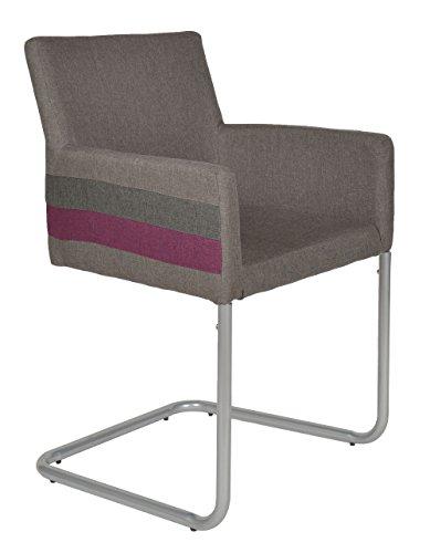 ts-ideen 1x Design Wohnzimmer Esstisch Küchen Stuhl Esszimmer Sitz Stoff Metall Grau