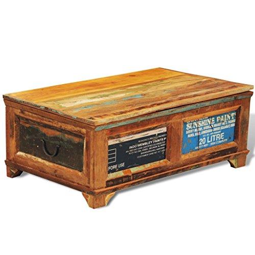 vidaXL Couchtisch Beistelltisch Aufbewahrungsbox Vintage Retro