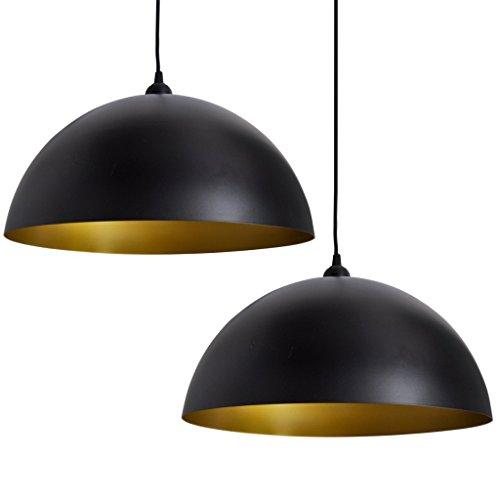 vidaXL-Deckenlampe-Hngeleuchte-Esstisch-Pendellampe-Schwarz-2-tlg-0
