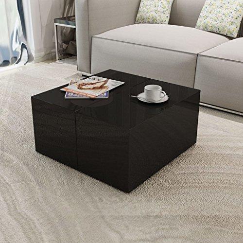 vidaXL Kaffeetisch Couchtisch Wohnzimmertisch Beistelltisch Tisch Hochglanz Schwarz