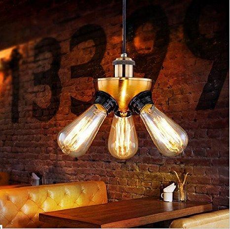 yuewei®Retro Vintage Industrial Metal Bar schwarz Pendelleuchte Hängedeckenleuchte -Lampe